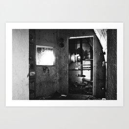 Fallout shelter boiler room Art Print