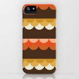 Be Still - scallop retro vintage 70s style colors 1970s throwback iPhone Case