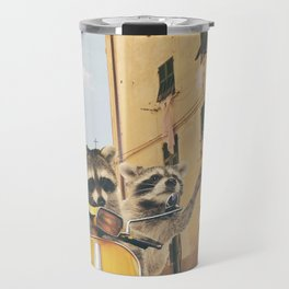 Raccoons on the road trip Travel Mug