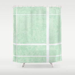 Divide - Mint Shower Curtain
