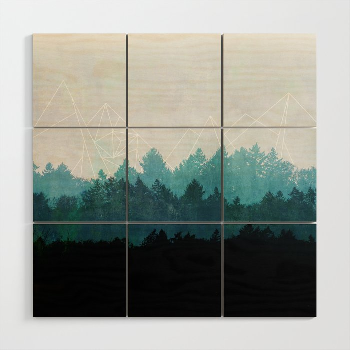 Woods Abstract Wood Wall Art by maboe | Society6