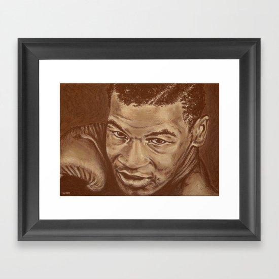 round 7...mike tyson Framed Art Print