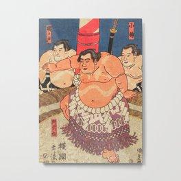 Sumo fighter I Metal Print