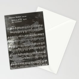 Brahms Sheet Music - Ballade Stationery Cards