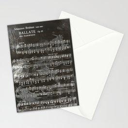 Brahms Sheet Music - Ballade Stationery Cards