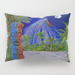 Tiki Art Background Pillow Sham