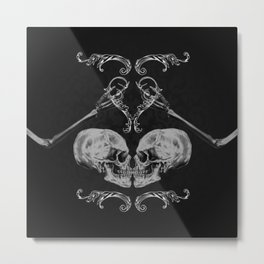 """Skull in Love"" Metal Print"