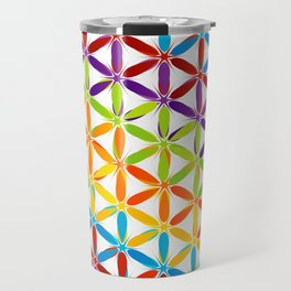 Colorful geometry pattern with stars and sparkles Travel Mug