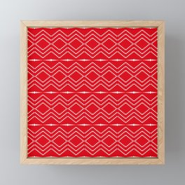 Christmas Pattern Red White 2 Framed Mini Art Print