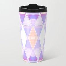 Art Deco Triangles Light Purple Travel Mug
