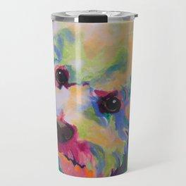 Bichon Poodle Pet Portrait Travel Mug