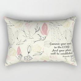 Proverbs 16:3 Rectangular Pillow