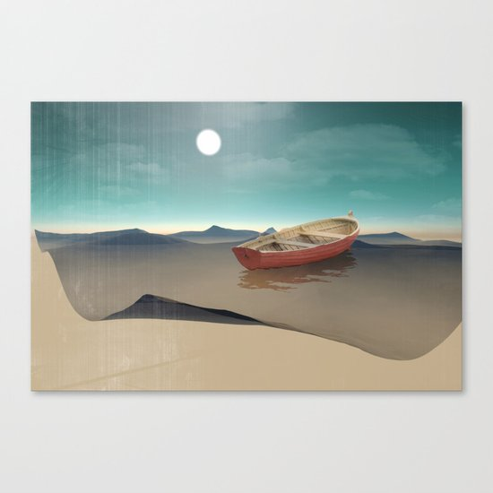 at sea in a void Canvas Print