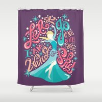 risa rodil Shower Curtains featuring Snow Queen by Risa Rodil