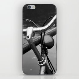 Bike Under The Rain iPhone Skin