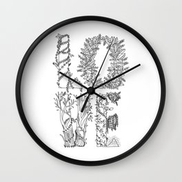 alphabet of LOVE Wall Clock