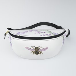Lavender Bee Fanny Pack