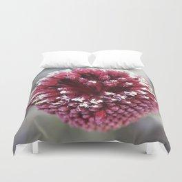 Macro of Round-Headed Leek Flower Allium Sphaerocephalon Duvet Cover
