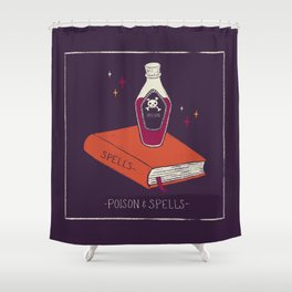 Halloween Poison and Spells Shower Curtain