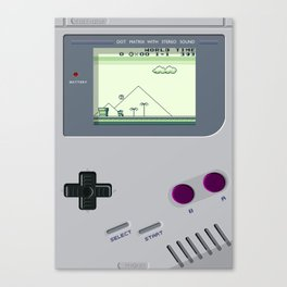 OLD GOOD GAMEBOY Canvas Print