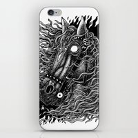 occult iPhone & iPod Skins featuring Occult horse by Iria Alcojor