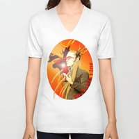 thranduil V-neck T-shirts featuring Thranduil The Party King by Alice9