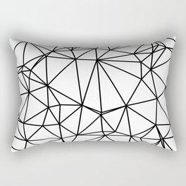 Random delaunay triangulation - white Rectangular Pillow