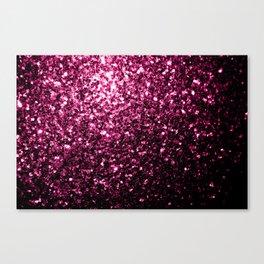 Beautiful Dark Pink glitter sparkles Canvas Print