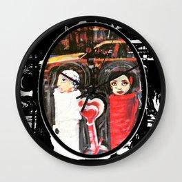 Two Girls Frenemies Wall Clock