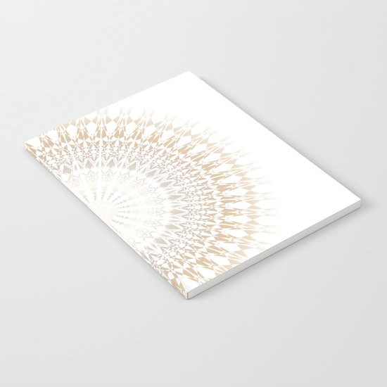 Beige White Mandala Notebook