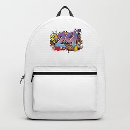 Hiphop Dancer Graffiti Artist Typography 29th Birthday Hip Hop Urban Wall Mural Street Art Backpack