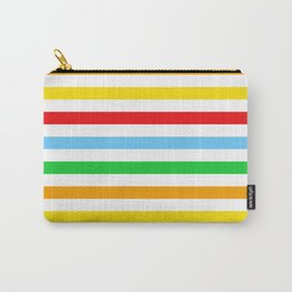 Stripes (Parallel Lines) - Red Blue Green Pink Carry-All Pouch