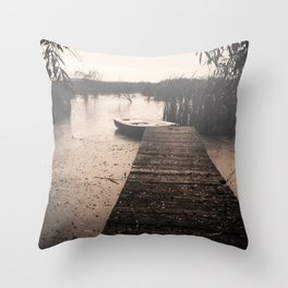 The fall  The Lake  The boat The drama Throw Pillow