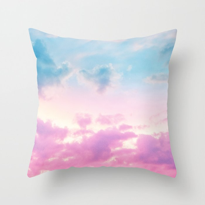 Unicorn Pastel Clouds #3 #decor #art #society6 Deko-Kissen
