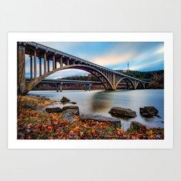 Lake Taneycomo Bridge  - Branson Missouri Art Print