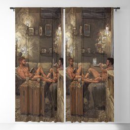 Two Guys One Couch Blackout Curtain