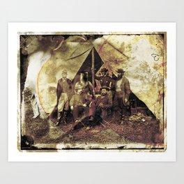 Allan Pinkerton's Ironman project Art Print
