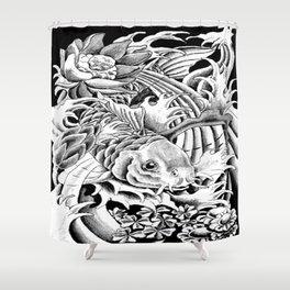 Koi Splash Tattoo Leggings Shower Curtain