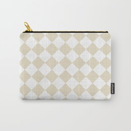 Diamonds - White and Pearl Brown Carry-All Pouch