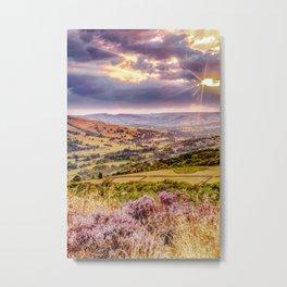 Scenic view of Hope valley, Peak District, U.K. Metal Print