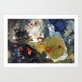 Oil Paint Texture Art Print