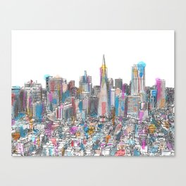 San Francisco Coit view Canvas Print