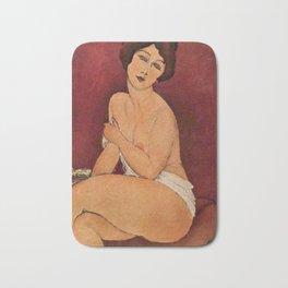 Amedeo Modigliani - Nude Sitting on a Divan Bath Mat