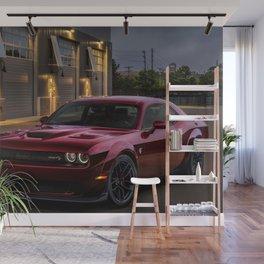 Octane Red Challenger SRT Hellcat Wall Mural