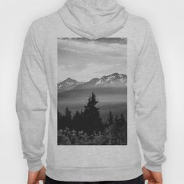 Morning in the Mountains Black and White Hoody