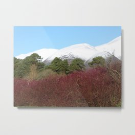 Snow capped Cumbrian mountains Metal Print