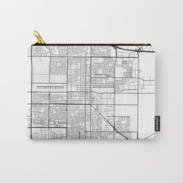 Oxnard Map, USA - Black and White Carry-All Pouch