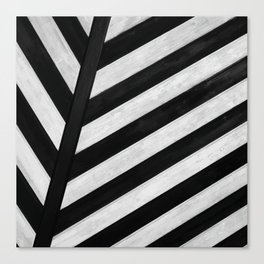 b&w stripes Canvas Print