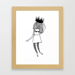 Blackened Crown Framed Art Print