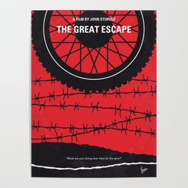 No958 My The Great Escape minimal movie poster Poster